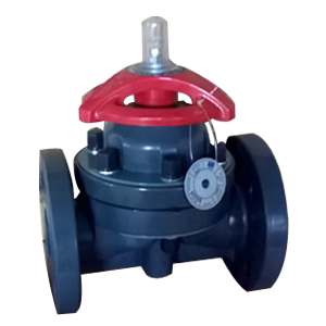 Carbon Steel Diaphragm Valve, UPVC, 2IN, 150#, FF