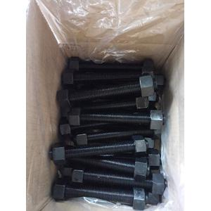 A193 B7/A194 2H Stud Bolts and Nuts, 3/4 x 7 Inch, Black Coated