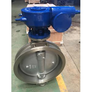 ASTM A351 CF8 Triple Eccentric Wafer Butterfly Valve, 24IN, CL150